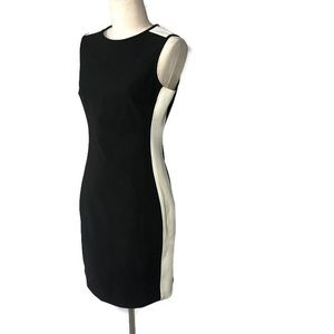 Shoshanna 4 black and white color blocked dress